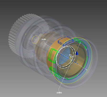 Simulación 3D componente