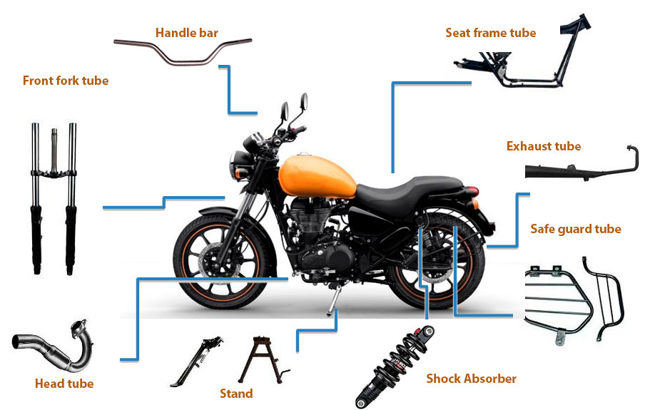 motorcycles-tubes-manufactur applications