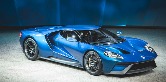 At The Wheel Of The Ford Gt Huge Technology