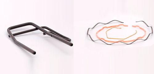 Varilla y tubo conformado-piezas