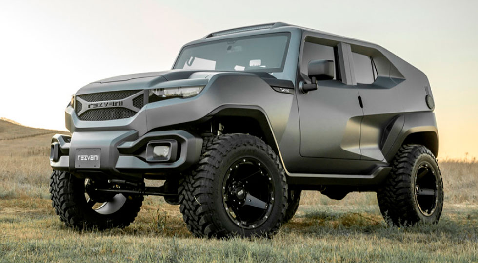Rezvani Tank The Luxury Suv Inspired By Military Vehicles