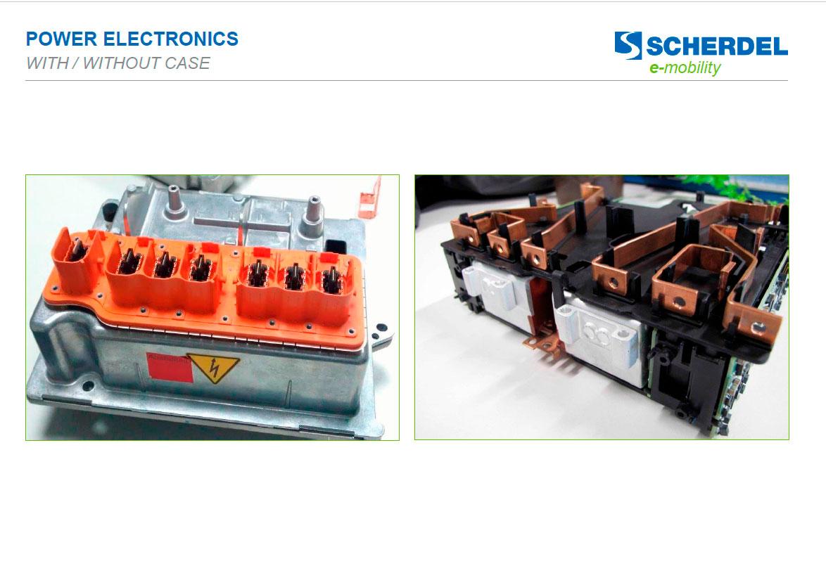 Tarjetas con y sin carcasa - Electrónica de potencia E-Mobility Scherdel