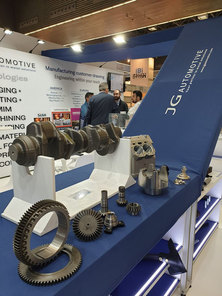 JG Automotive presented its stand at the exhibition in