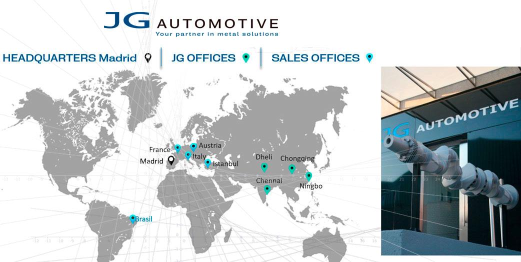 Oficinas comerciales y sedes JG Automotive
