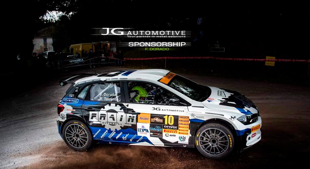 sponsorship jg automotive Fco. dorado Campeonato de España de Rallies
