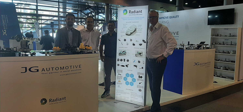 Supplier Radiant Automechanika Frankfurt 2021 JG Automotive Stand
